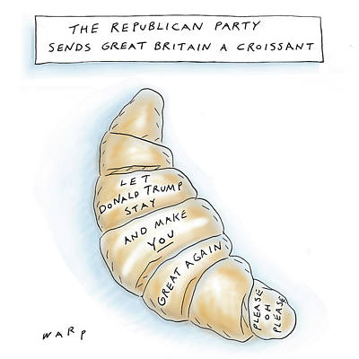 Baked Goods Drawing - The Republican Party Sends Great Britain by Kim Warp