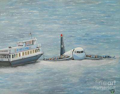 Passenger Plane Painting - The Rescue by Kenneth Harris