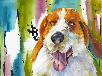 The Rescue Me Dog Art Print by P Maure Bausch