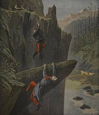The Rescue Of A Soldier, Illustration Art Print by Henri Meyer