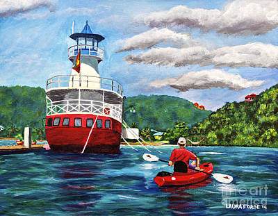 Out Kayaking Art Print