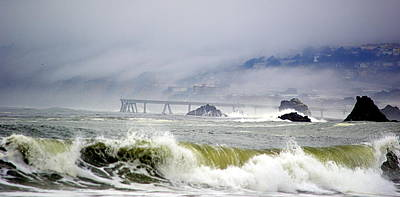 Photograph - The Restless Sea by AJ  Schibig