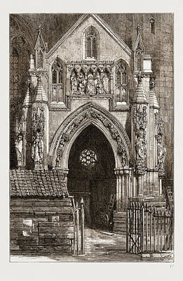 Restoration Drawing - The Restoration Of Bristol Cathedral, Uk by Litz Collection