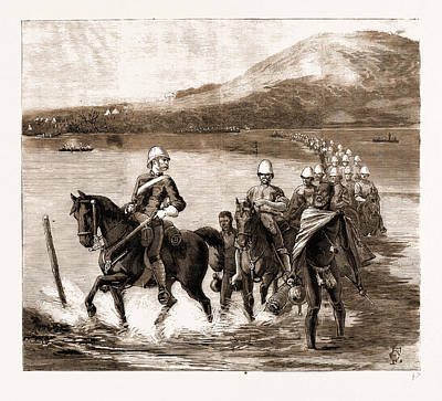 Restoration Drawing - The Restoration Of Cetewayo The Military Escort Crossing by Litz Collection