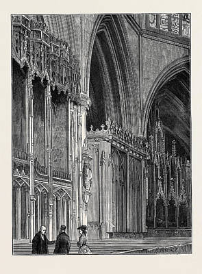 The Restoration Of Tewkesbury Abbey The Countess Print by English School