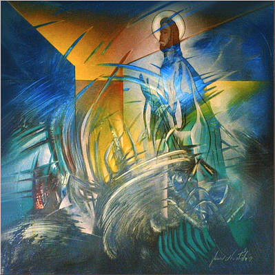 Painting - The Resurrected Christ 2004 by Glenn Bautista