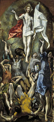 Resurrection Painting - The Resurrection by El Greco