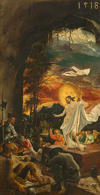 The Resurrection Of Christ Painting - The Resurrection Of Christ by Albrecht Altdorfer