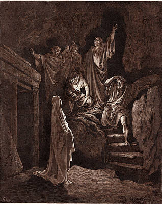 Resurrection Drawing - The Resurrection Of Lazarus, By Gustave Dore by Litz Collection