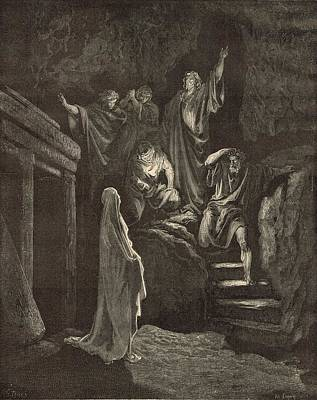 The Resurrection Of Lazarus Art Print by Antique Engravings