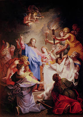 The Resurrection Of Christ Painting - The Resurrection Of Lazarus  by Jean-Baptiste Corneille