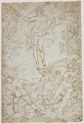 Resurrection Drawing - The Resurrection Santi Di Tito, Italian by Litz Collection