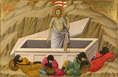 Painting - The Resurrection by Ugolino di Nerio