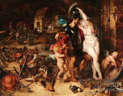 Painting - The Return From War - Mars Disarmed By Venus by Pg Reproductions