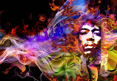 The Return Of Jimi Hendrix Art Print