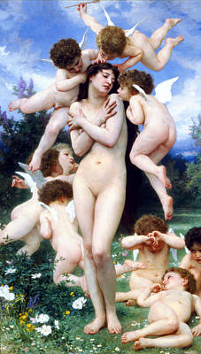 Angel Art Painting - The Return Of Spring by William-Adolphe Bouguereau