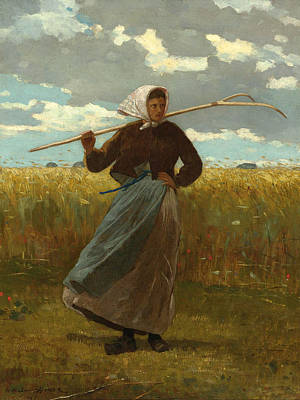 Winslow Homer Painting - The Return Of The Gleaner by Winslow Homer