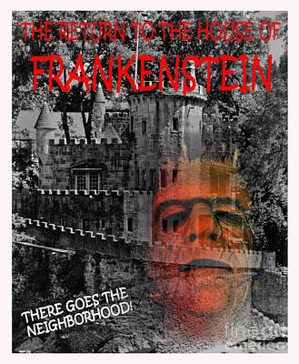 Photograph - The Return Of The House Of Frankenstein by Jim Fitzpatrick