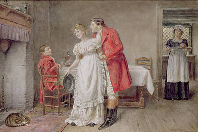 Attention Painting - The Return Of The Huntsman  by George Goodwin Kilburne