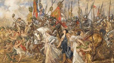 Victorious Painting - The Return Of The Victors by Sir John Gilbert