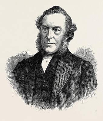 Wesleyan Drawing - The Rev. John Bedford President Of The Wesleyan Methodist by English School