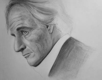 Old Blue Eyes Drawing - The Rev by Rosa Arania