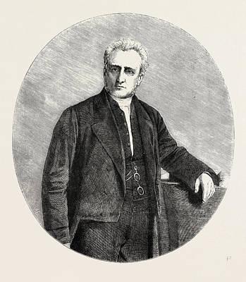 Wesleyan Drawing - The Rev. William Wood Stamp, President Of The Wesleyan by English School