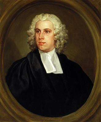 Hogarth Painting - The Reverend Dr. John Lloyd, Curate Of St. Mildreds Church by Litz Collection