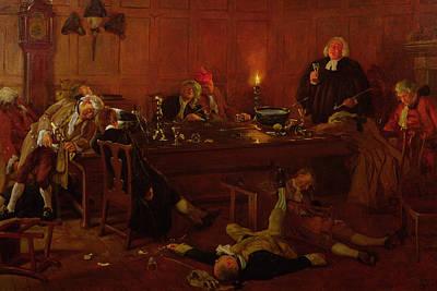 Drunk Painting - The Reverend Geoffrey Shovel, Chaplain by Thomas Davidson