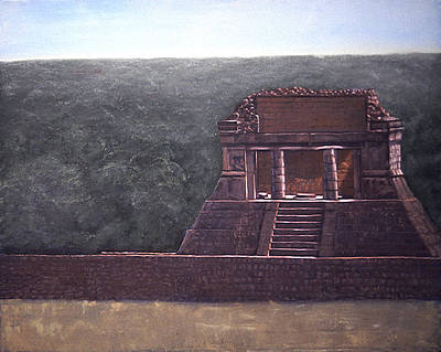 Chichen Itza Painting - The Reviewing Stand by David Zimmerman