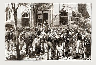 The Revolt In Valencia, Federalists Taking Possession Art Print