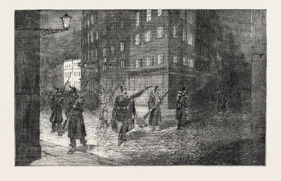 Clearing Drawing - The Revolution In France Troops Clearing The Streets by French School