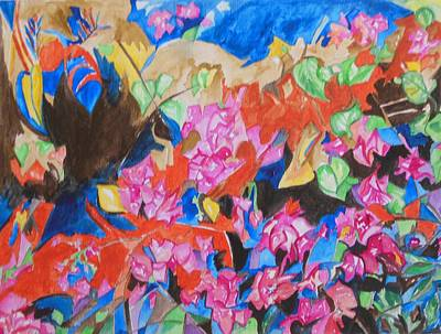 Painting - The Rhythm Of Flowers by Esther Newman-Cohen