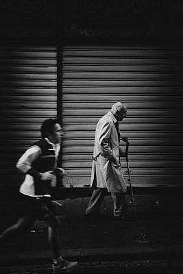 Sidewalk Photograph - The Rhythm Of Life. by Antonio Grambone