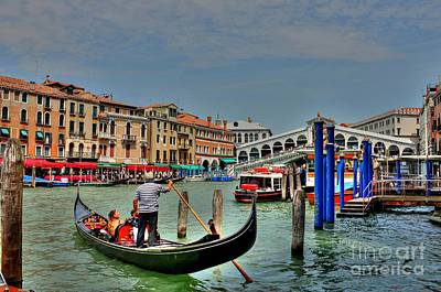 Photograph - The Rialto Bridge - Venice I by Ines Bolasini