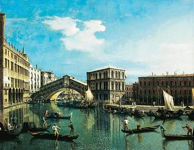 Painting - The Rialto Bridge In Venice by Giovanni Antonio Canal