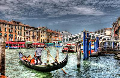 Photograph - The Rialto Bridge - Venice by Ines Bolasini