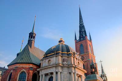 Photograph - The Riddarholmen Church In Stockholm by Michal Bednarek
