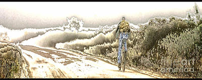 Op Art Mixed Media - The Ride by H Scott Cushing