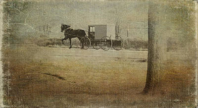 Amish Country Photograph - The Ride Home by Kathy Jennings