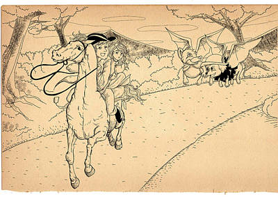 July Fourth Drawing - The Ride Of Paul Revere by Reynold Jay