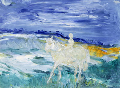Ghost Riders Photograph - The Rider Oil On Canvas by Brenda Brin Booker