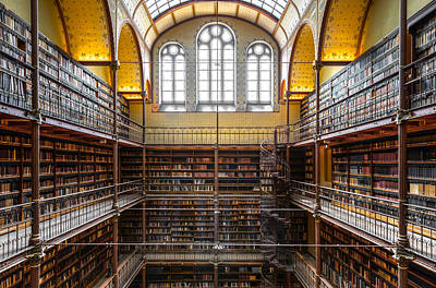 Photograph - The Rijksmuseum Library by Brian Grzelewski