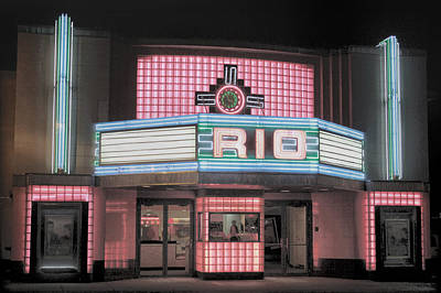 The Rio At Night Art Print by Lynn Sprowl