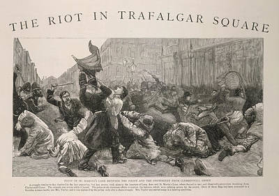 1887 Photograph - The Riot In Trafalgar Square by British Library