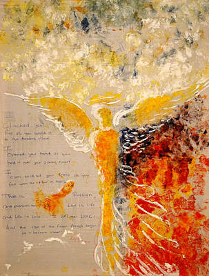 Painting - The Rise Of A Fallen Angel by Giorgio Tuscani
