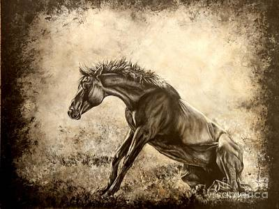 Watercolor. Equine. Bridle Painting - The Rise Of Luzia Minera by Amanda Hukill