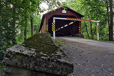 Photograph - The Rishel Covered Bridge Before Irene's Destructive Blow by Gene Walls