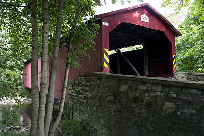 Photograph - The Rishel Covered Bridge - Circa 1827 by Gene Walls