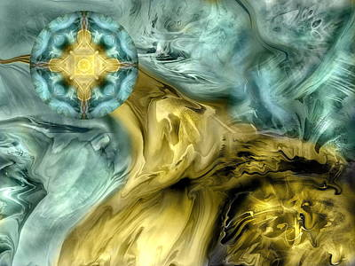 Abtract Digital Art - The Rising Of A Soul by Joyce Rogers